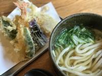 天ぷらうどん サクサク揚げたての天ぷら盛り合わせわ別添えで。
