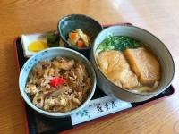 『お昼の定食』 お好きなうどんプラス日替わり丼。
